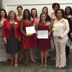 Front row Rep. John Bel Edward and his wife Donna Hutto Edwards,  TPW President Rose Dominguez, Kristin Bluain, April Gaydos, Pamela White and TPW Past President Barbara Davis.  Second row Sarah Kron, Rebecca Schnadelbach, Kayleigh Raines, Catherine McRae, Trina Morris, Lakeshia Barnes and TPW Scholarship Chair Suzette Callais.  Not pictured are scholarship recipients Darnesha Collier, Crystal Gonzalez, and Sarah Poche'.